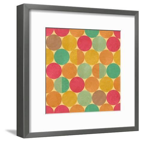 Retro Geometric Seamless Pattern With Seamless Texture-Heizel-Framed Art Print