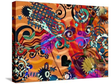 Abstract Background, Color Painted Graffiti-Andriy Zholudyev-Stretched Canvas Print