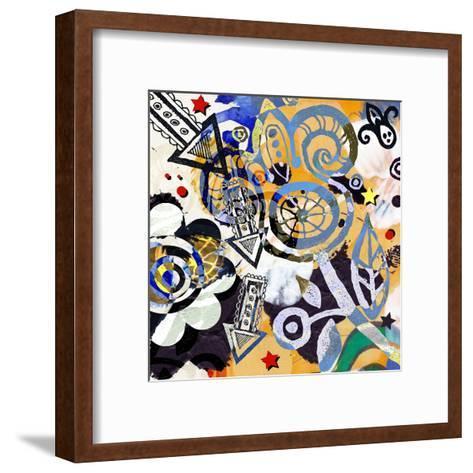 Abstract Background, Color Painted Graffiti-Andriy Zholudyev-Framed Art Print
