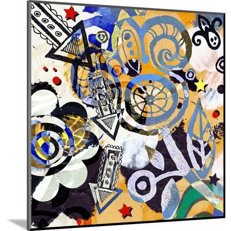 Abstract Background, Color Painted Graffiti-Andriy Zholudyev-Mounted Art Print