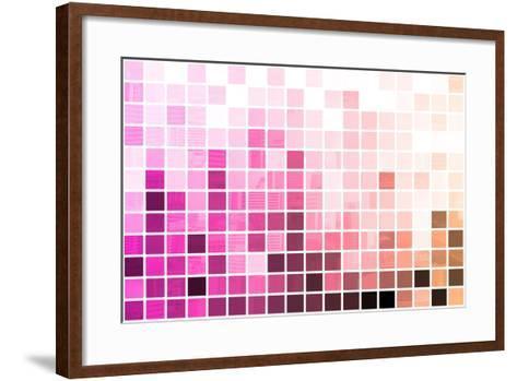 Purple Simplistic And Minimalist Abstract-kentoh-Framed Art Print