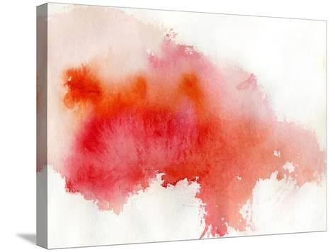 Red Spot, Watercolor Abstract Hand Painted Background-katritch-Stretched Canvas Print