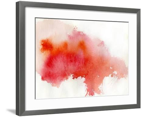Red Spot, Watercolor Abstract Hand Painted Background-katritch-Framed Art Print