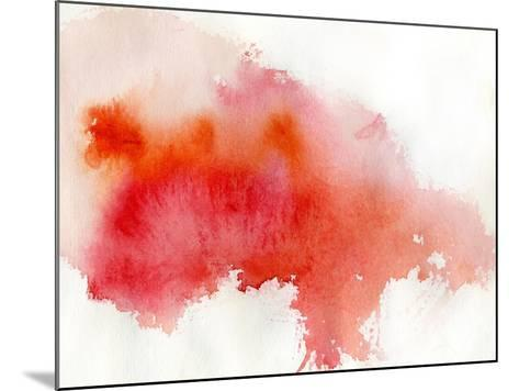 Red Spot, Watercolor Abstract Hand Painted Background-katritch-Mounted Art Print