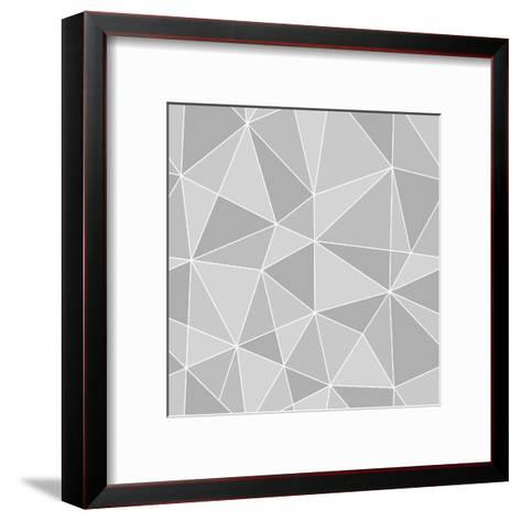 Seamless Triangles Texture, Abstract Illustration-100ker-Framed Art Print