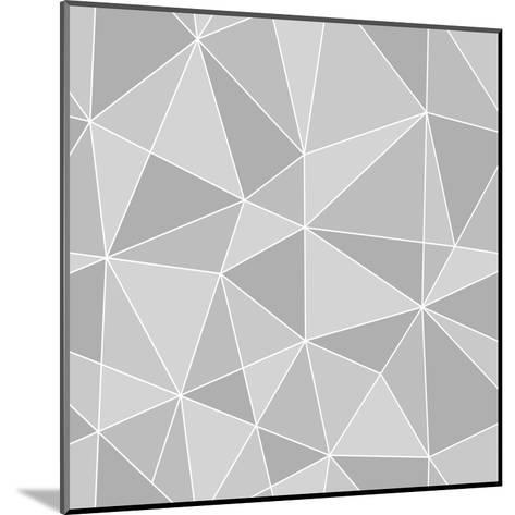 Seamless Triangles Texture, Abstract Illustration-100ker-Mounted Art Print