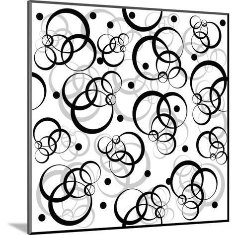Pattern With Black Circles On White Background-hibrida13-Mounted Art Print