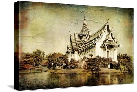 Pictorial Thailand - Artwork In Painting Style-Maugli-l-Stretched Canvas Print