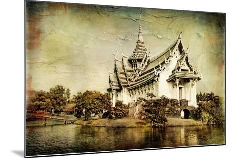 Pictorial Thailand - Artwork In Painting Style-Maugli-l-Mounted Art Print