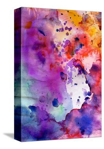 Abstract Grunge Texture With Paint Splatter-run4it-Stretched Canvas Print