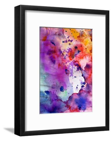 Abstract Grunge Texture With Paint Splatter-run4it-Framed Art Print