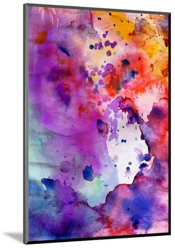 Abstract Grunge Texture With Paint Splatter-run4it-Mounted Art Print