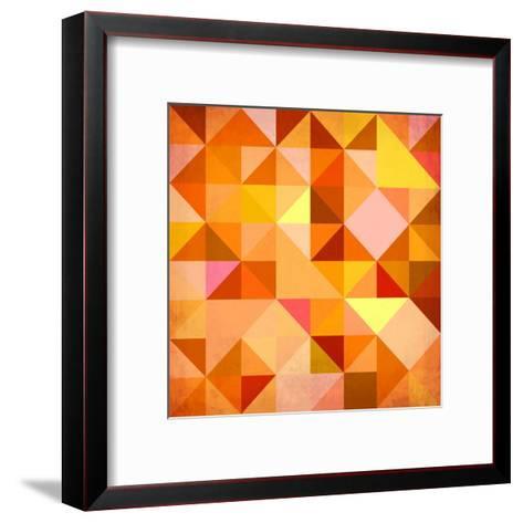 Abstract Triangles Grunge-art_of_sun-Framed Art Print