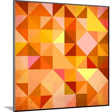 Abstract Triangles Grunge-art_of_sun-Mounted Art Print