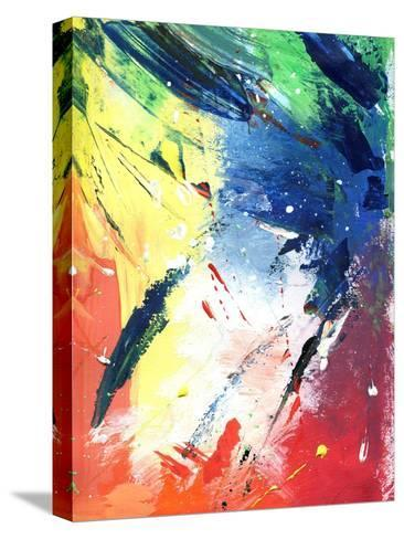 Abstract Painting With Expressive Brush Strokes-run4it-Stretched Canvas Print