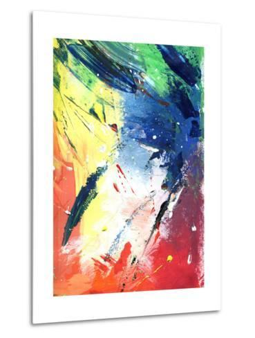 Abstract Painting With Expressive Brush Strokes-run4it-Metal Print