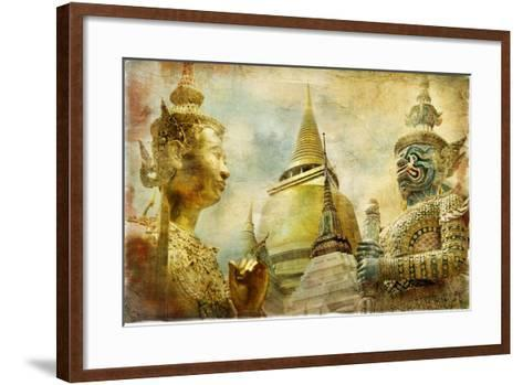 Amazing Bangkok - Artwork In Painting Style-Maugli-l-Framed Art Print