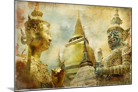 Amazing Bangkok - Artwork In Painting Style-Maugli-l-Mounted Art Print