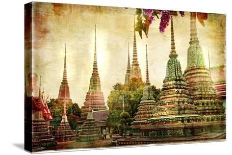 Amazing Bangkok - Artwork In Painting Style-Maugli-l-Stretched Canvas Print