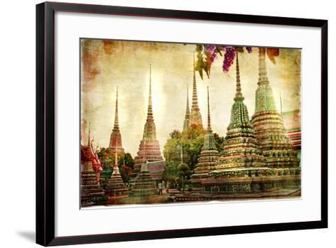 Amazing Bangkok - Artwork In Painting Style-Maugli-l-Framed Art Print