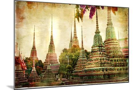 Amazing Bangkok - Artwork In Painting Style-Maugli-l-Mounted Art Print