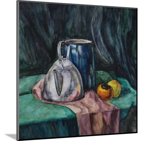Still Life With Metal Teapot And Milk-Can-Solodkov-Mounted Art Print
