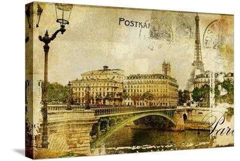 Paris Paris.. Vintage Photoalbum Series-Maugli-l-Stretched Canvas Print