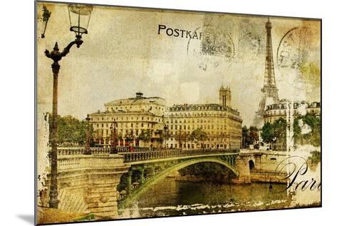 Paris Paris.. Vintage Photoalbum Series-Maugli-l-Mounted Art Print