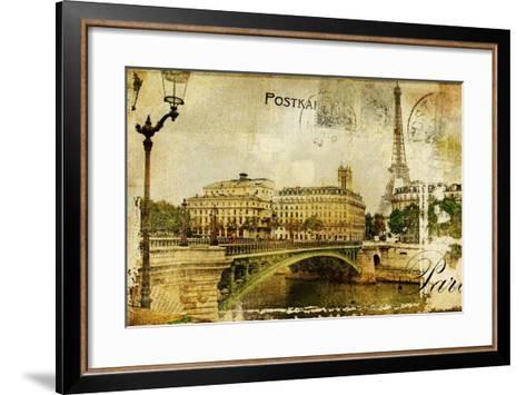 Paris Paris.. Vintage Photoalbum Series-Maugli-l-Framed Art Print