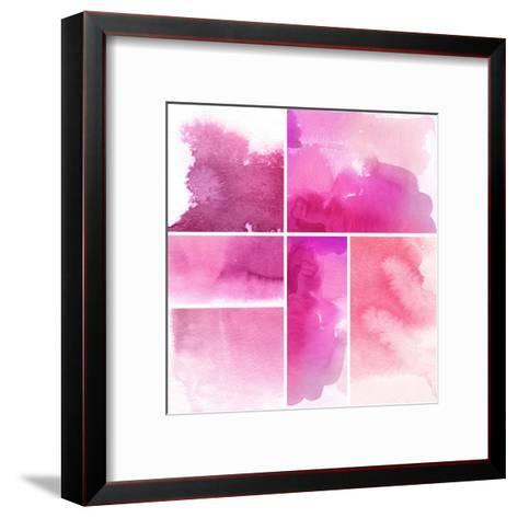 Set Of Watercolor Abstract Hand Painted Backgrounds-katritch-Framed Art Print