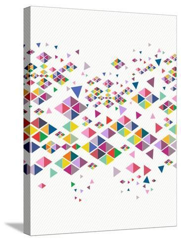 Trendy Hipster Geometric Pattern-cienpies-Stretched Canvas Print