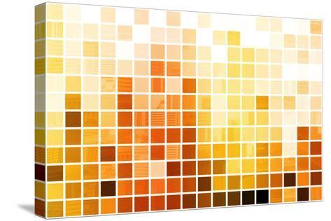 Orange Cubic Professional Abstract Background-kentoh-Stretched Canvas Print