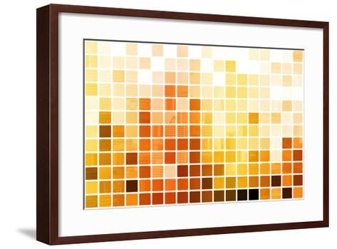 Orange Cubic Professional Abstract Background-kentoh-Framed Art Print