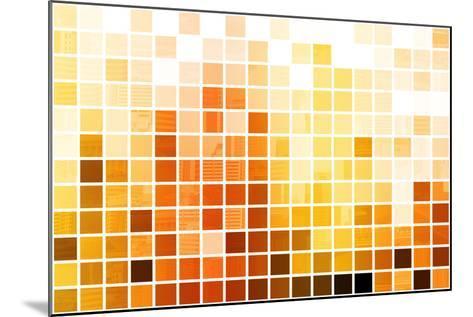 Orange Cubic Professional Abstract Background-kentoh-Mounted Art Print