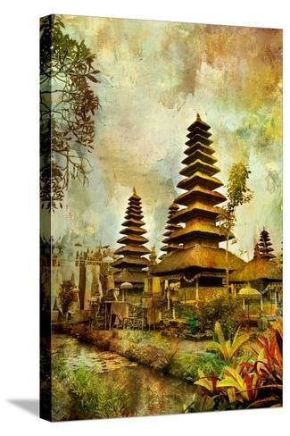 Balinese Temple - Artwork In Painting Style-Maugli-l-Stretched Canvas Print
