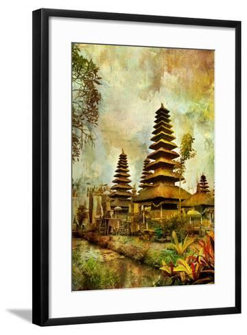 Balinese Temple - Artwork In Painting Style-Maugli-l-Framed Art Print