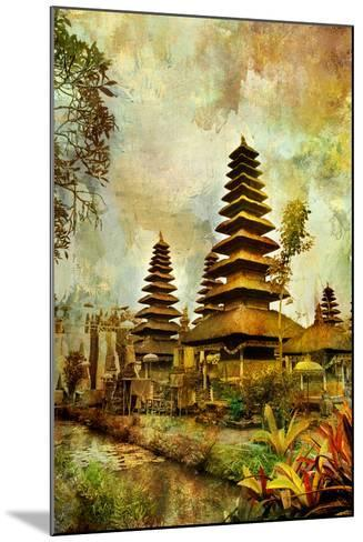 Balinese Temple - Artwork In Painting Style-Maugli-l-Mounted Art Print