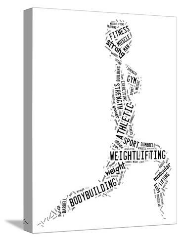 Weighlifting Pictogram With Black Wordings-seiksoon-Stretched Canvas Print