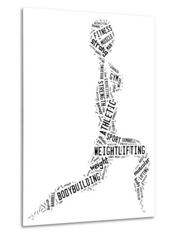 Weighlifting Pictogram With Black Wordings-seiksoon-Metal Print