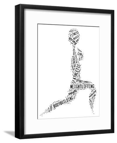 Weighlifting Pictogram With Black Wordings-seiksoon-Framed Art Print