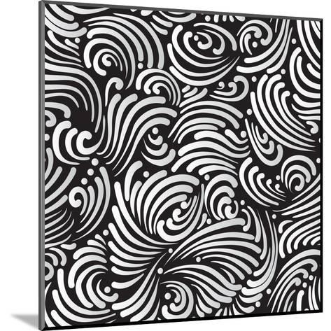 Abstract Black And White Background, Seamless Pattern-Olga Lebedeva-Mounted Art Print