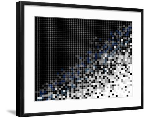 Abstract Pixel Mosaic Illustration- vska-Framed Art Print