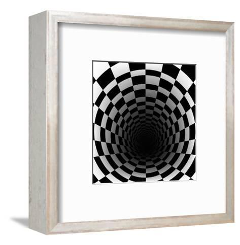 Checkerboard Background With Perspective Effect-Vlada13-Framed Art Print
