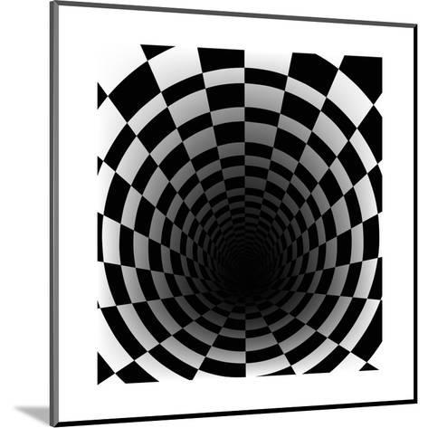 Checkerboard Background With Perspective Effect-Vlada13-Mounted Art Print