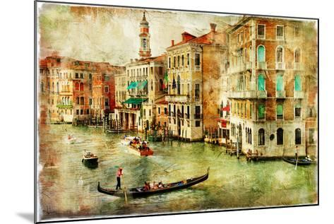 Amazing Venice - Artwork In Painting Style-Maugli-l-Mounted Art Print