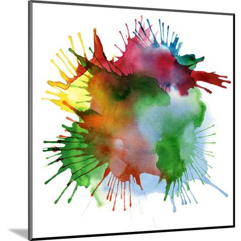 Abstract Color Watercolor Blot Background-Rudchenko Liliia-Mounted Art Print