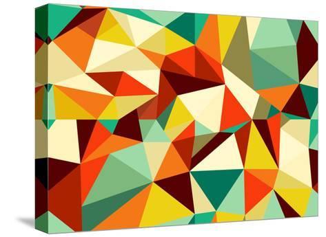 Vintage Geometric Pattern-cienpies-Stretched Canvas Print