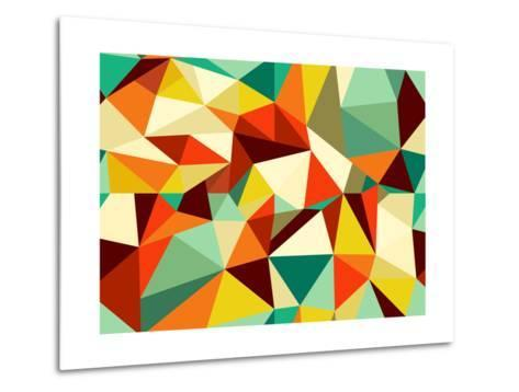 Vintage Geometric Pattern-cienpies-Metal Print