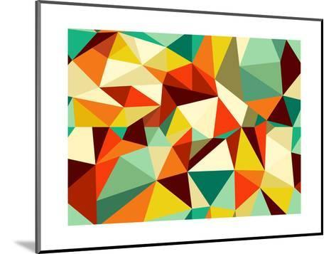 Vintage Geometric Pattern-cienpies-Mounted Art Print