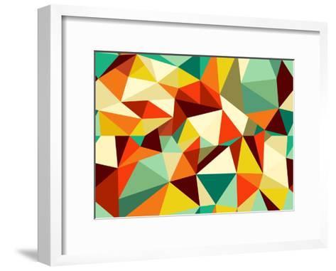 Vintage Geometric Pattern-cienpies-Framed Art Print